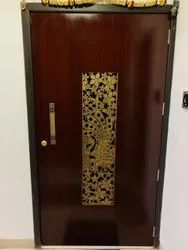 Wooden safety door, For Home, Size: Customisable
