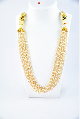 Metal Bead Pearl Traditional Pearl Necklace Rs 1550 Piece Id