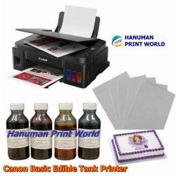 Canon Basic Edible Tank Printer Complete Set Including 4 Edible Ink Bottles & 25 Icing Sheets