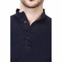 Mens Plain Blue Full Sleeve Sweatshirt