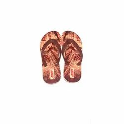 Nire Mens Printed Rubber Slipper, Packaging Type: Box