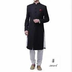 Wedding Wear, Festive Wear Plain Mens Designer Western Sherwani, Size: 34-46