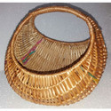 Brown Willow Chand Basket, Size: 12 Inch
