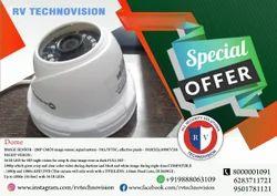 RV.TECHNOVISION 2.4MP HD CCTV Dome Camera, for Indoor Use