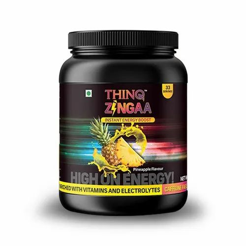 Thinq Zinga ( Pineapple ) Energy Drink, Packaging Size: 1 kg