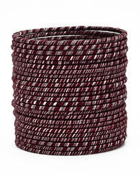 Purple Silk Thread Bangle