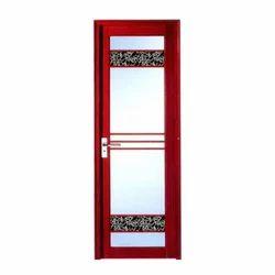 Red Fancy Aluminum Bathroom Door