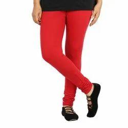 Plain Red Ladies Churidar Cotton Legging