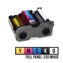 Black And YMCK Resin HID FARGO Ribbons For DTC Printers, DTC1000 And 1250e