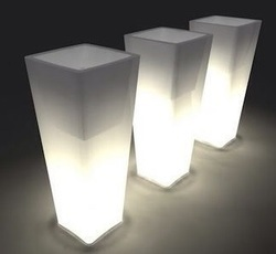 LED Light Illuminating Planters