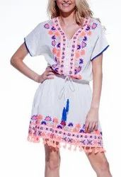 Women Embroidery Western Tunics
