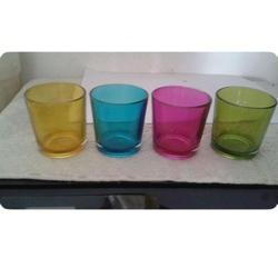 Colored Glass T Votive, Packaging Type: Box