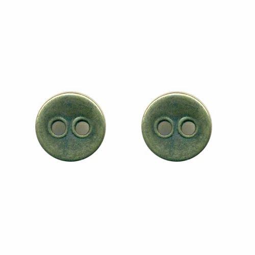 Zinc Metal Button, Size: 10 mm