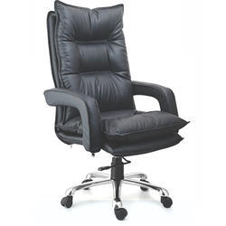 Metro Black High Back Director Leather Chair