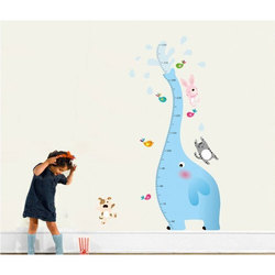 Extra Large Elephant Height Chart Wall Sticker
