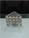Normal Table Top Triangular Crystal Votive Tea Light Holder Handmade, Capacity: Stunning, Size: 9x9x6cm