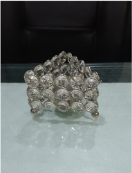 Triangular Crystal Votive Tea Light Holder Handmade