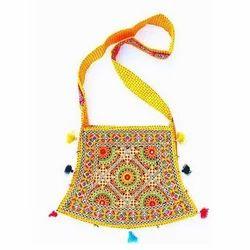 Yellow Designer Handicraft Bag