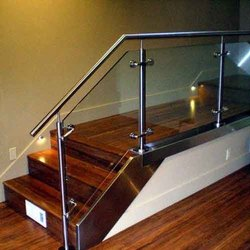 Silver Stainless Steel Interior Railing