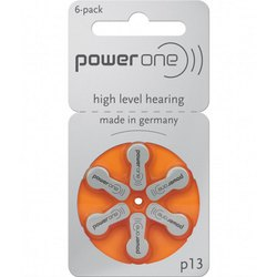 P-13 Power One Hearing Aid Battery