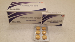 Azitreat-250 Azithromycin Tablets 250mg (10x1x6 tablets), Packaging Type: Strip
