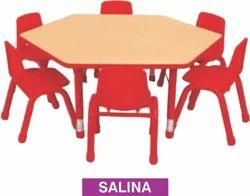 Salina Hexagon Wooden Pre Play School Table