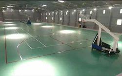 Synthetic PVC Badminton Court Construction Service