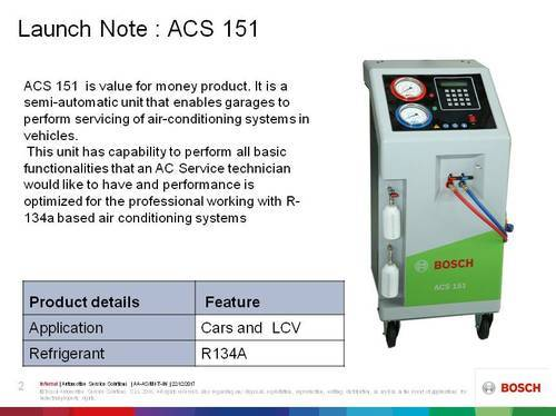 Car Ac Maintenance Bosch Semi Automatic Acs Gas Charging Machine