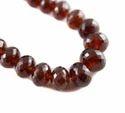 Hessonite Garnet Stone Roundel Faceted Beads