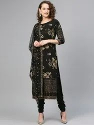 Women kurta with Churidar and dupatta