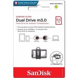Sandisk Dual Drive m3.0 Pendrive,内存大小:64gb