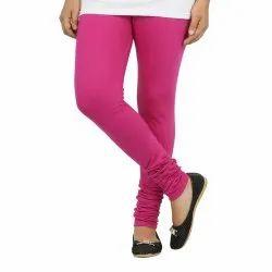 D Shopify Cotton Pink Churidar Leggings for Women, Size: Free Size