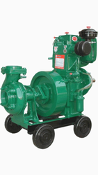 8hp Water Cooled Pump Set, Max Flow Rate: 2000 Lpm