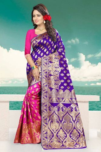 Banarsi Silk Saree with Blouse Piece