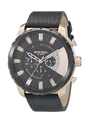 Round Analog Black And Rose Gold Dial Mens Watch