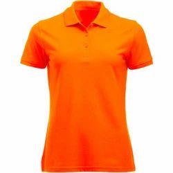 Ladies Cotton Half Sleeve Plain T Shirt