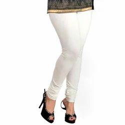 Lycra Sinker Ladies Stretchable White Legging