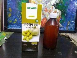Sovam Natural Garlic Juice, Packaging Type: Bottle
