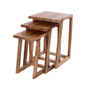 Wooden Stools Set of 3