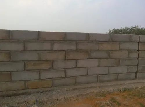 Light Weight Blocks Non Load Bearing Boundary Wall Material, For Building And Construction, Thickness: 6 Inches