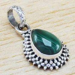 Malachite Gemstone 925 Sterling Silver Jewelry Fine Pendant