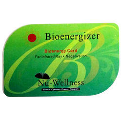Green PVC Bio Energizer Health Card, For Radiation And Heart Disease