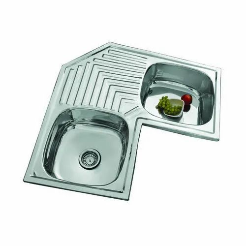 Double Ready To Mount Lily Corner Kitchen Sink Size 36 X 36 X 8 Inch Rs 17000 Piece Id 6984226262
