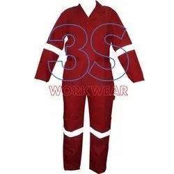 Red Coveralls Boiler Suit, Model Name/Number: 3SBS11CT