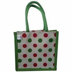 Green Dot Print Biodegradable Loop Handle Bag