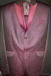 Cotton Black Solid Mens 3ps Suit