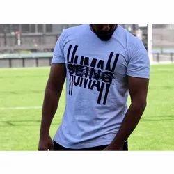 Cotton Half Sleeve Men Stylish Round Neck T Shirt