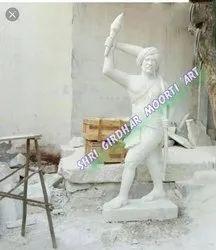 Birdha Munda Marble Statue