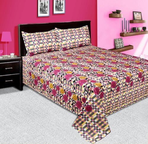 Heavy Cotton Bed Sheet With Pillows