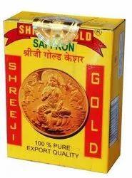 Shreeji Gold Saffron, Packaging Size: 1gm